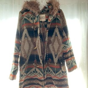 Native American inspired BB Dakota coat.
